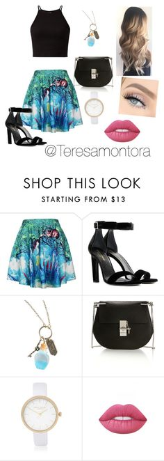 """""""For @teresamontora"""" by annie-travers ❤ liked on Polyvore featuring Yves Saint Laurent, Disney, Chloé, River Island and Lime Crime"""