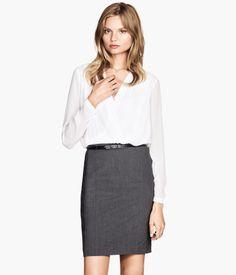 H&M Draped Wrap-style Blouse $29.95