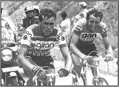 Tour de France 1976. 9^Tappa, 4 luglio. Divonne-les-Bains > L'Alpe d'Huez. Lucien Van Impe (1946) e Joop Zoetemelk (1946)