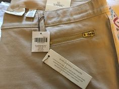 CHICOS SIZE 2.5 PANT, SO SLIMMING GETAWAY ZIP POCKET 28 IN ANKLE NEW KHAKI, NWT #Chicos #KhakisChinos