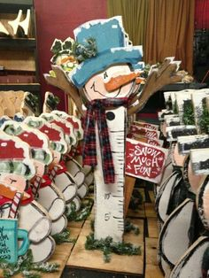 Cute wood snowman craft.