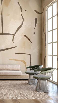 Home Decor Interior Designs Contemporary Interior Design, Home Interior Design, Interior Decorating, Interior Plants, Interior Modern, Interior Wallpaper, Modern Wallpaper, Minimalist Wallpaper, Diy Wallpaper