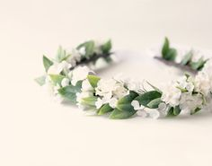 Ivory+flower+crown+Woodland+bridal+crown+Whimsical+от+whichgoose,+$68.00