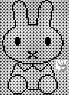 Miffy by Anja Takacs Pearl Beads Pattern, Hama Beads Patterns, Beading Patterns, Perler Bead Art, Perler Beads, Hama Mini, Beaded Cross Stitch, Beaded Animals, Pony Beads