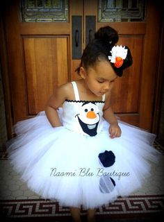 Disney Inspired Olaf the Snowman from Frozen Girls by NaomiBlu, $60.00 Frozen birthday party ideas. Tutu dress, olaf costume