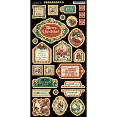 A Christmas Carol Chipboard Die-Cuts 6'X12' Sheet-Decorative – Oxeme Gifts