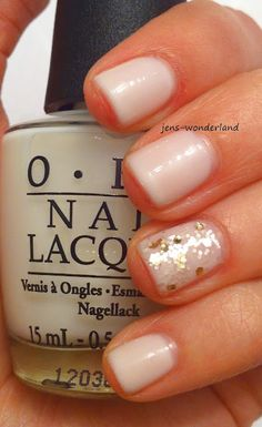 OPI Don't Touch My Tutu with accent nail (I'm loving the idea of white polish lately...)