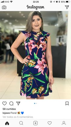 African Wear, African Dress, African Fashion, Floral Prom Dresses, Casual Dresses, Girls Dresses, Big Girl Fashion, Women's Fashion Dresses, Casual Looks