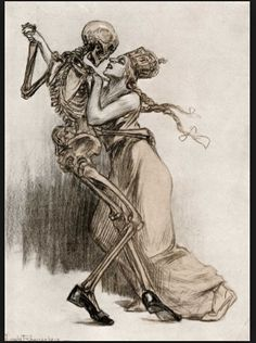 dancing with skeleton