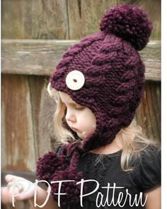Knitting PATTERN-The Roxie Hat (Toddler, Child, Adult sizes) also can be Made to Order