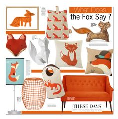 """What Does The Fox Say?"" by kusja ❤ liked on Polyvore featuring interior, interiors, interior design, home, home decor, interior decorating, Mark McGinnis, Jonathan Adler, Anorak and MANGO"