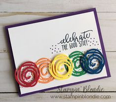 Stampin' Blondie: Stampers By The Dozen - Kids Creations! Masculine Birthday Cards, Birthday Cards For Mum, Scrapbooking, Scrapbook Cards, Cricut Cards, Stamping Up Cards, Creative Cards, Kids Cards, Flower Cards