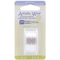 Beadalon-Artistic-Wire-20-GaugeTarnish-Resistant-Silver-Wire-6-Yard-0