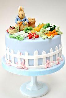 Peter Rabbit themed birthday cake for ACJ