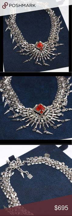 86748727e Dannijo Kate State Necklace Gorgeous statement necklace. Silver plated w  Swarovski center. Will be