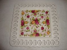 Amazon.com: Royal Albert Old Country Roses Square Pierce Platter: Home & Kitchen