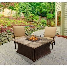 Square Gray Travertine Mosaic Top Fire Pit - Santa Cruz https://www.studio9furniture.com/outdoor/fire-pits-bowls-glass/high-quality-fire-pits-fire-pit-tables/santa-cruz-square-fire-pit-gray-travertine-mosaic-top  This breathtaking brand new 2017 design features a woven square chat height fire pit table that will capture California has to offer in outdoor entertaining.