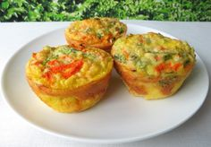 Mini Quiche, Paleo Style! - A simple quiche in a muffin cup is a great grab & go breakfast! AND they freeze beautifully, so there's never a time when you're desperate for a healthy meal. They taste like an egg muffin with veggies and cheese. Quick and yummy for breakfast, lunch, or a snack, these are low in carbs and high in nutrition.