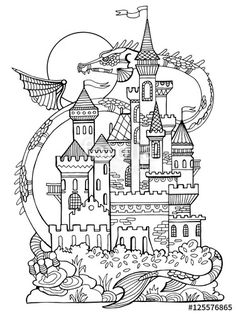 F300ba576e1d6a3aa86543ed646cef71 Castle Illustration Coloring Book Pages