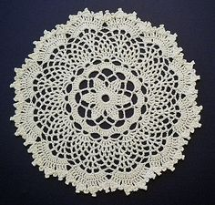 free crochet pattern for this Passion Flower Doily - by Denise (Augostine) Owens on ravelry Crochet Doily Rug, Free Crochet Doily Patterns, Crochet Dollies, Crochet Circles, Crochet Art, Crochet Squares, Thread Crochet, Filet Crochet, Crochet Crafts