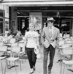 Jean Seberg and Jean Paul Belmondo in A bout de souffle [Breathless] (Jean-Luc Godard, 1960)