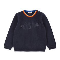 9830dc549d4e ARMANI BABY Baby Boys Logo Sweater - Navy Baby boys sweater • Soft knitted  cotton •