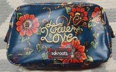 Womens Sakroots True Love Make up bag MARQ SPUSTA Artist Covered canvas  #Sakroots #CosmeticBag