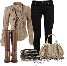 Mix and match …Some outfits that we create on Polyvore.com You can always wear earth colors for winter . Here are some of our winter creation .