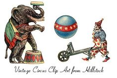 Vintage Circus Clip Art Old Fashioned Circus Stock Images