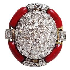 Buy online, view images and see past prices for Amazing Art Deco Enamel Diamond Platinum Ring. Invaluable is the world's largest marketplace for art, antiques, and collectibles. Bezel Diamond Rings, Art Deco Diamond Rings, Platinum Diamond Rings, Diamond Jewelry, One Ring, Silver Diamonds, Fine Jewelry, Jewellery, Jewelry Rings