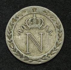Coins of France 10 Centimes Napoleon Bonaparte Coin, 1808