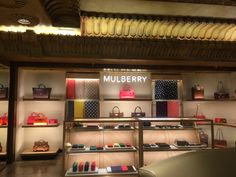 Mulberry in Harrods.  This mulberry story is required to fit into the Egyptian theme. However, they still manage to maintain the general tone of their line.