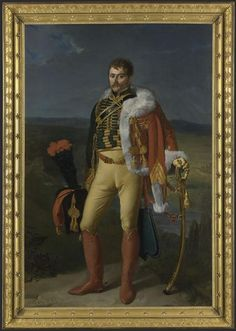 Portrait of Captain Jean-Baptiste Isidore Martin de Laborde (1772-1852) of the Regiment of Chasseurs à Cheval of the French Imperial Guard , painted by Alexandre Casanova (1770-1844) in 1805.