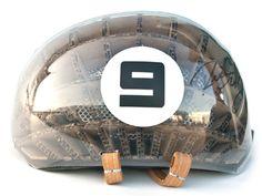 The 'Kranium' corrugated bicycle helmet