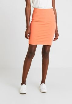 Kaffe Penny - Pencil Skirt Women Coral Clothing Skirts Discount [WomenKA321B000-G16] Skirts For Sale, Mini Skirts, Bachelorette Party Attire, Tommy Hilfiger Skirts, Fabric Material, Coral, Clothes For Women, Pattern, Cotton