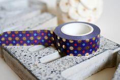 Purple Washi with Gold Foil/Blue/Pink Polka Dot