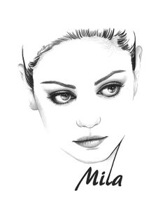 Mila Kunis, Max Payne, That 70s Show, 8x10 Fine Art Print by Wendy Hogue Berry