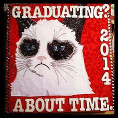 Grumpy Cap Graduation Cap