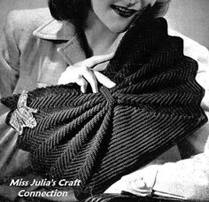 Vintage 1940s Artistic Bow Clutch Envelope Purse 251 PDF Digital Crochet Pattern. $2.00, via Etsy.