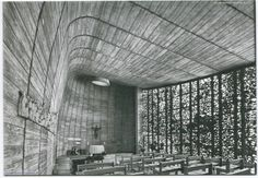 Tours, Petites Soeurs des Pauvres, Chapelle de la maison de retraite, 1972. Jean Marconnet, architecte :