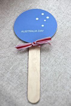 Australia Day printable fan