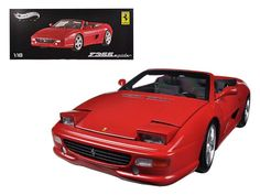 Ferrari F355 Spider Convertible Red Elite Edition 1/18 Diecast Car Model by Hotwheels