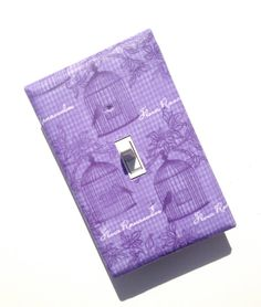 Bird Cage Light Switch Plate Cover / French Lavender by SSKDesigns, $8.00