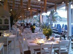 Opa! Nammos Restaurant. Psarou Beach, Mykonos. (2006)