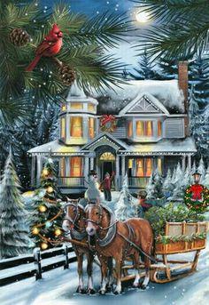 Christmas sleigh.