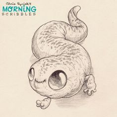 Slippery salamander... #morningscribbles   출처: CHRIS RYNIAK