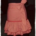 "Chloe says, ""love the ruffles not the color"". I agree. Could I repurpose one of those long wrap-arounds c. 1990s, I wonder?"