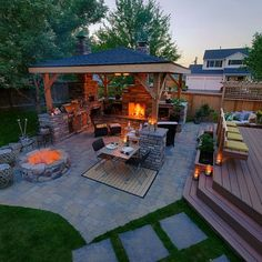 Backyard Patio Design Idea. See More. McAravey Property   Outdoor Living  Has It All A Few Steps From Indoors | Paradise Restored