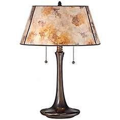 Duke Light Mica Pull Switch Table Lamp