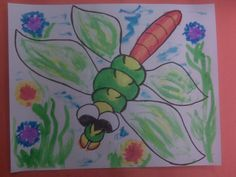 Dragonfly Craft by Debbie Krohn Dragon Fly Craft, Frog Art, Preschool Ideas, Frogs, Crafts For Kids, Disney Characters, Fictional Characters, Flowers, Crafts For Children